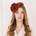 voordelige Hoofddeksels voor feesten-100% Wol Kentucky Derby Hat / hatut met Bloemen 1pc Causaal / Alledaagse kleding Helm