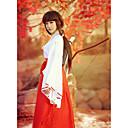 billige Anime Kostumer-Inspireret af InuYasha Kikyo / Miko Anime Cosplay Kostumer Cosplay Kostumer / Kimono Ensfarvet Langærmet Top / Bukser Til Dame