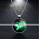 cheap Necklaces-Women's Vintage Style Pendant Necklace - Silver Plated Galaxy Vintage, Punk Luminous Silver 60 cm Necklace Jewelry 1pc For Party, Halloween