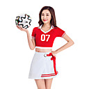 cheap Magnet Toys-Cheerleader Costumes Outfits Women's Performance Polyester Split Joint Short Sleeve Dropped Skirts / Top