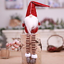 cheap Christmas Decorations-Christmas Figurines / Christmas Ornaments Holiday Cotton Fabric Cube Cartoon Toy Christmas Decoration