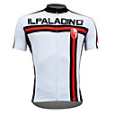 cheap Cycling Jerseys-ILPALADINO Men's Short Sleeve Cycling Jersey - White Vertical Strips Bike Jersey Top, Quick Dry Ultraviolet Resistant Breathable, Spring Summer, 100% Polyester