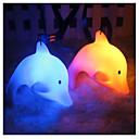 billige Originale lamper-søte fargerike led natt lys barn gave leketøy dekor bursdag jul gave natt lys med lanyard dolphin luminescerende delfin tilfeldig farge