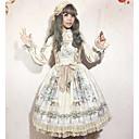 preiswerte Lolita Kleider-Klassische / Traditionelle Lolita Niedlich Chiffon Weiblich Cosplay Weiß / Blau / Tintenblau Ärmellos Ärmellos Kostüme