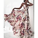 זול הד פיס למסיבות-צווארון V מותניים גבוהים מקסי שמלה נדן רזה בגדי ריקוד נשים