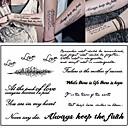 tanie tatuaż naklejki-3 pcs Tatuaże tymczasowe Seria wiadomości Przyjazne dla środowiska / Nowy design Sztuka na ciele Korpus / Ramię / Klatka piersiowa / Tatuaże tymczasowe w stylu kalkomanii / Naklejka tatuaż