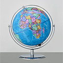 cheap Party Headpieces-9 Inch Cartography World Globe with Stand Built-in LED Light Desktop Political Globe for Kids & Teachers, Educational Gift