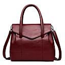 ieftine Genți Umeri-Pentru femei Genți PU Umăr Bag Embosat Geometric Gri / Mov / Roșu Vin
