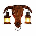 billige Flush Mount-lamper-Kreativ Vintage / Land Innendørs / butikker / cafeer Tre / Bambus Vegglampe 110-120V / 220-240V 20 W
