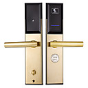 ieftine Cercei-Factory OEM Teak Blocare inteligentă Smart Home Security Sistem RFID Apartament / Hotel (Modul de deblocare Cheie mecanică / Card)