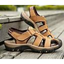 זול סנדלים לגברים-בגדי ריקוד גברים נעלי נוחות עור נאפה Leather קיץ סנדלים שחור / חום בהיר / חאקי / בָּחוּץ