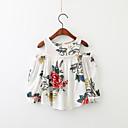 זול חולצות לבנות-חולצה שרוול ארוך פרחוני בנות ילדים