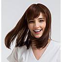 abordables Pelucas Naturales de Malla-Pelo humano pelucas sin tapa Cabello humano Recto Corte Bob Entradas Naturales Marrón Sin Tapa Peluca Mujer Ropa Cotidiana