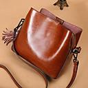 رخيصةأون حقائب توت-نسائي أكياس جلد حقيبة الكتف شرابة أسود / بني
