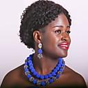 זול שרשרת אופנתית-בגדי ריקוד נשים שכבות סט תכשיטים - כדור אופנתי לִכלוֹל שרשרת גדילים אדום / ירוק / ורוד לוהט עבור חתונה