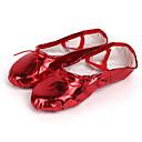 זול נעלי בלט-בגדי ריקוד נשים נעלי בלט PU נעלי ספורט שטוח נעלי ריקוד שחור / אדום