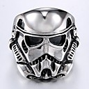 cheap Men's Rings-Men's Vintage Style Stylish Ring - Titanium Steel Mask Stylish, Vintage, Punk 10 / 11 / 12 Silver For Daily Street