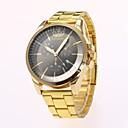 preiswerte Kleideruhr-Herrn Kleideruhr Armbanduhr Quartz Gold Kalender Neues Design Armbanduhren für den Alltag Analog Freizeit Modisch - Gold Schwarz Ein Jahr Batterielebensdauer