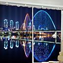 preiswerte Fenster Schürze-3D Vorhänge Schlafzimmer Zeitgenössisch Polyester Reaktivdruck