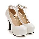 hesapli Kadın Topukluları-Kadın's Topuklular Konforlu Ayakkabılar Stiletto Topuk PU Bahar Beyaz / Siyah / Pembe / Günlük