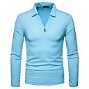 זול אביזרים לגברים-אחיד צווארון חולצה Polo - בגדי ריקוד גברים / שרוול ארוך