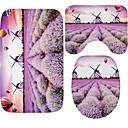 tanie Dopinki w naturalnych kolorach-3 szt. Rustykalny Maty łazienkowe 100g / m2 Poliester Stretch Knit Kwiatowy wzór Nieregularny Nowy design