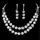 billige Smykkesett-Dame Klassisk Smykkesett - Kreativ Søt, Mote, Elegant Inkludere Halskjede Sølv Til Bryllup Fest