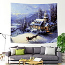 cheap Wall Decor-Christmas Wall Decor 100% Polyester Classic / Traditional Wall Art, Wall Tapestries Decoration