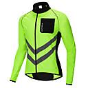 cheap Cycling Jackets-WOSAWE Men's Cycling Jersey / Cycling Jacket Bike Windbreaker / Top Windproof, Reflective Strips, Back Pocket Patchwork Polyester Green Bike Wear