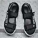 baratos Sandálias Masculinas-Homens Sapatos Confortáveis Jeans Verão Sandálias Preto / Vermelho