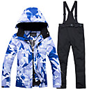 cheap Ski Wear-ARCTIC QUEEN Women's Ski Jacket with Pants Windproof Warm Detachable Cap Skiing Snowboarding Winter Sports POLY Eco-friendly Polyester Pants / Trousers Tracksuit Top Ski Wear