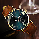 cheap Men's Sneakers-YAZOLE Men's Wrist Watch Quartz Casual Watch Leather Band Analog Casual Brown - Black Blue Dark Green One Year Battery Life / Stainless Steel / SSUO 377
