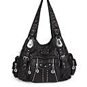 povoljno Tote torbe-Žene Patent-zatvarač PU Tote torbica Crn / purpurna boja / Badem