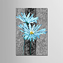 cheap Abstract Paintings-Oil Painting Hand Painted - Abstract / Floral / Botanical Modern Stretched Canvas