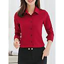 Χαμηλού Κόστους Καλώδια & Φορτιστής-γυναικεία μπλούζα - συμπαγές έγχρωμο πουκάμισο πουκάμισου