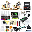 cheap Starter Tattoo Kits-DRAGONHAWK Tattoo Machine Starter Kit, 2 pcs Tattoo Machines with 4 x 5 ml tattoo inks - 2 cast iron machine liner & shader