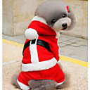 abordables Disfraces de Navidad para mascotas-Perros Saco y Capucha Ropa para Perro Navidad Rojo + negro / Rojo / Verde Algodón Disfraz Para mascotas Unisex Mantiene abrigado / Lazo