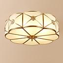 billige Lysekroner-3-Light Cirkelformet Takmonteret Baggrundsbelysning Antik Messing Metal Glas Kreativ 110-120V / 220-240V Varm Hvid