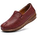 halpa Naisten mokkasiinit ja loaferit-Naisten Comfort-kengät Nahka Syksy Vintage / Vapaa-aika Mokkasiinit Kiilakantapää Musta / Viini