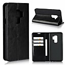 cheap Cell Phone Cases & Screen Protectors-Case For Samsung Galaxy S9 Plus / S9 Wallet / Shockproof / with Stand Full Body Cases Solid Colored Hard Genuine Leather for S9 / S9 Plus / S8 Plus