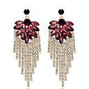 cheap Earrings-Women's Synthetic Amethyst Tassel Drop Earrings - Leaf Stylish, Classic Gold For Daily