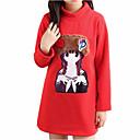 cheap Girls' Tops-Kids Girls' Basic / Street chic Daily / Sports Print Print Long Sleeve Regular Polyester Tee Red