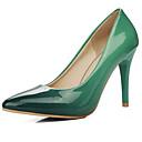 preiswerte Mode Uhr-Damen Komfort Schuhe PU Winter High Heels Stöckelabsatz Rot / Grün / Blau / Alltag