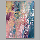 cheap Oil Paintings-Oil Painting Hand Painted - Abstract / Landscape Comtemporary / Modern Stretched Canvas / Rolled Canvas