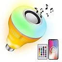 olcso LED okos izzók-YWXLIGHT® 1db 12 W 1050-1150 lm B22 / E26 / E27 Okos LED izzók 48 LED gyöngyök SMD Tompítható / Hang-aktiválás / Távvezérlésű RGB 85-265 V