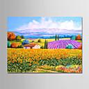 זול ציורי נוף-ציור שמן צבוע-Hang מצויר ביד - L ו-scape מודרני ללא מסגרת פנימית / בד מגולגל