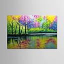 povoljno Apstraktno slikarstvo-Hang oslikana uljanim bojama Ručno oslikana - Pejzaž Moderna Bez unutrašnje Frame / Valjani platno