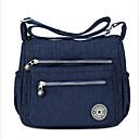 cheap Crossbody Bags-Women's Bags Nylon Shoulder Bag Zipper Dark Blue / Purple / Fuchsia