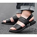 Недорогие Мужские сандалии-Муж. Комфортная обувь Наппа Leather Лето Сандалии Черный