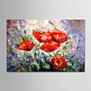 رخيصةأون لوحات الزهور والنباتات-هانغ رسمت النفط الطلاء رسمت باليد - الأزهار / النباتية الحديث بدون إطار داخلي / توالت قماش